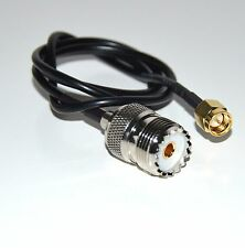 50cm RG174 Cable SMA Male Plug To SO239 UHF Female Jack Crimp Coax Pigtail 20in
