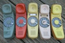 (5) Untested Western Electric Rotary Dial Green Yellow Red Beige