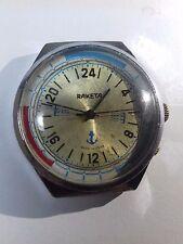Vintage Soviet USSR Watch RAKETA Submariner 24 hours Working wristwatch #118429