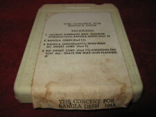 GEORGE HARRISON Concert For Bangla Desh 2x 8 Track Tape bangladesh