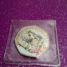 CIRCULATED COLOURED 2016 MRS TIGGY-WINKLE 50P COIN
