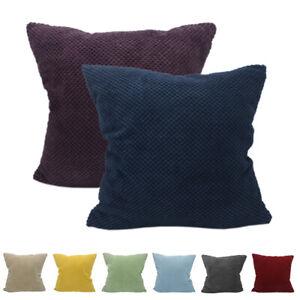 CURCYA Corduroy Velvet Cushion Cover Case Car Sofa Waist Throw Pillow Cover Soft