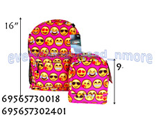 AN EMOJI BACKPACK-0018 WITH A MATCHING LUNCH BAG -2401-PINK