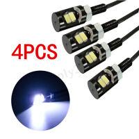 4X Car Motorcycle 2 LED SMD License Number Plate Light Screw Bolt Lamp Bulbs 12V