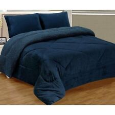 New Ultra Soft King Size Heavy Thick 3pcs Borrego Sherpa Blanket Set