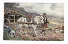 POSTCARD 'SCOTLAND' The Peat Cart by A.Scott Rankin /C-154