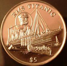 Liberia 5$ CuNi BU 1998 R.M.S. Titanic - World's First Titanic Coin in Folder