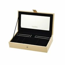 New Authentic PANDORA Single Layer Stackable Jewellery Box in Cream PU Leather