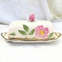 Vintage Franciscan Desert Rose (American Backstamp) Lidded Butter Dish Made USA
