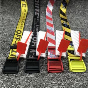 New Off White belt fashion canvas Big IRON Head Industrial Belt Long 200CM