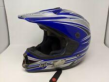 Fox Racing RC4 Replica Pilot Blue & Grey Motorcross Helmet Adult Large 59-60 cm