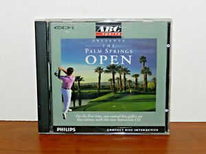 ABC Sports Palm Springs Open (Philips CD-i, 1991) COMPLETE with Manual Golf Game