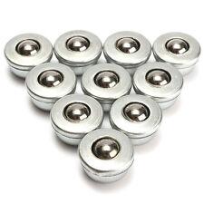 10x Kugelrolle Transfer 15mm Stahlblechgehäuse Kugel 8mm Kugellager Metallkugel
