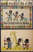 Drei Brüderlein in Afrika um 1940 Malbuch bzw. Ausmalbuch illustriert sf