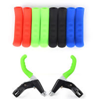 1 Pair Mountain Bike MTB DH BMX Brake Lever Grips Rubber Protector Cover Ws