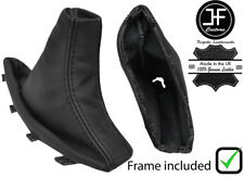 BLACK STITCH REAL LEATHER HANDBRAKE BOOT+ PLASTIC FRAME FOR BMW X3 E83 03-10
