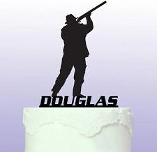 Personalised Shotgun - Shooting Cake Topper