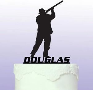 Personalised Shotgun - Shooting Acrylic Cake Topper