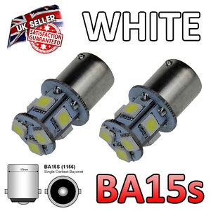 Land Rover Defender BA15s 8 SMD White LED Side Light Bulbs 382 207 245