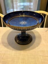 estate dore a sevres cobalt/gold large footed bowl