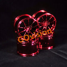 Custom Lot of 4 Metallic Red Wheel Hubs for Lego 42056 Technic Porsche 911 GT3