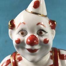 Porzellanfigur dicker Zirkus Clown Trommel Bajazzo Harlekin Pierrot Kaspar ~1950