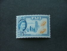 Fiji QEII 1954 5/- ochre & blue SG293 UM/MNH