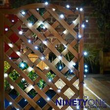 Solar LED String Lights 240pk Cool White Garden Gazebo Tree Trellis Decking Post