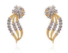 Classy 0.48 Cts Natural Diamonds Stud Earrings In Fine Hallmark 14K Yellow Gold