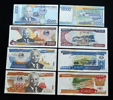 Laos 2000, 5000, 10000, 20000 kip. Asia. UNC.4PCS