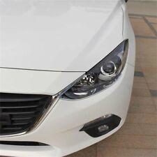For Mazda 3 Axela 2014-2018 Chrome Front Headlight Eyebrow Eyelid Cover Trim