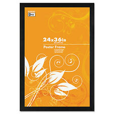 Dax Black Solid Wood Poster Frames W Plastic Window Wide Profile 24 X 36 2863U2X