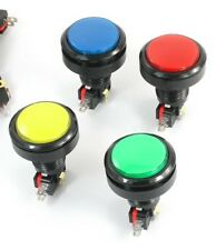 4Pcs Round Head SPDT Momentary 5 Pin Soldering Arcade Game Machine Button Switch
