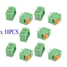 10Pcs KF141R-2P 2 Pin 2.54mm Pitch PCB Connector Spring Screless Terminal Blocks