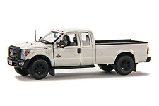 "Ford F250 Super Cab 8 Ft Bed - ""WHITE"" - Black Wheels - 1/50 - Sword #SW1100W"