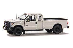 "Ford F250 Super Cab 8 Ft Bed - ""WHITE"" - Black Wheels - 1/50 - Sword #SW1100W"