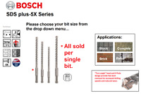 BOSCH PRO SDS Plus Masonry And Concrete With Rebar, 4 Cut Head Hammer Drill Bits