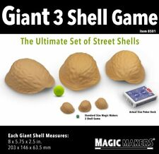 Giant Three Shell Game With Green Ball - Large Enough For Stage or Platform!