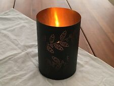 MODERN RUSTIC, Candle Holder, Antique Bronze, Gold Interior, Crate and Barrel