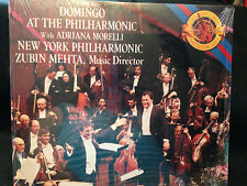 Domingo at the NY Philharmonic CBS Zubin Mehta Adriana Morelli Live Vinyl LP NEW