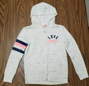 JUSTICE Girls size 8 Zip Front Hoodie-NEW  with tags