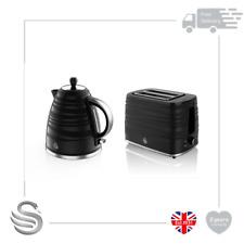 Swan Symphony 1.7 Litre Jug Kettle & 2 Slice Toaster 930W High Gloss Matt Finish