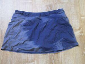 Lands' End Tie Dye Blue Navy Swim Suit Skirt Skort bikini bottom CUTE Size 8