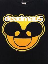 deadmau5 Black T-Shirt EDM Yellow Orange Size Medium
