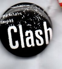 THE CLASH BUTTON BADGE UK PUNK ROCK BAND -LONDON CALLING JOE STRUMMER 25MM PIN