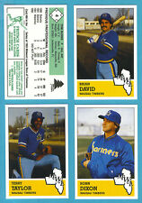 1983 Fritsch Midwest League Team Set Wausau Timbers (Mariners)