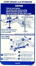 1969  FIREBIRD/TRANS AM (COUPE)JACK INSTRUCT   DECAL
