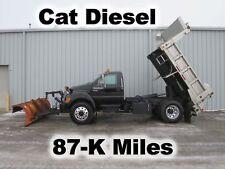 F750 CAT DIESEL AUTOMATIC STAINLESS DUMP BED BODY SALT SPREADER PLOW TRUCK