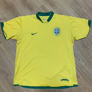 Brazil 2006/2008 Home Football Shirt Jersey Nike Size XL Adult
