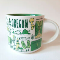 Starbucks Oregon Coffee Cup Mug Been There Series Across The Globe Collection